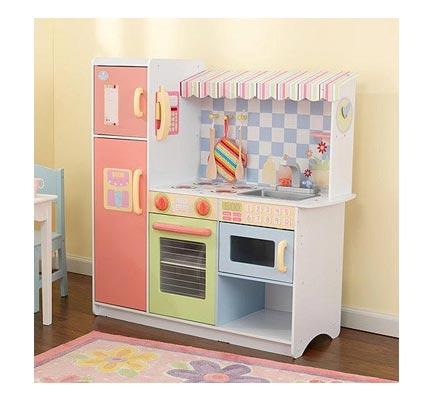 kidkraft wooden play kitchen set with stools onestepahead exclusive