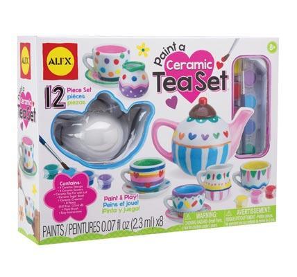 Ceramic tea set for girls