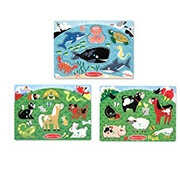 Melissa & Doug Animals Puzzles Set