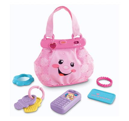 Pink learning purse