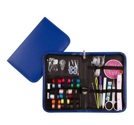 Professional Sewing Supplies Kit with Leather Case