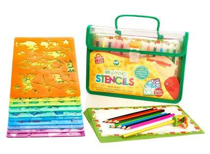 creabow crafts stencils and drawing art and craft sets for kids case