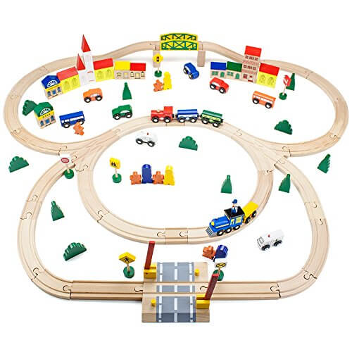Best train tables train sets for kids rated in 2018 for 100 piece cityscape train set and wooden activity table