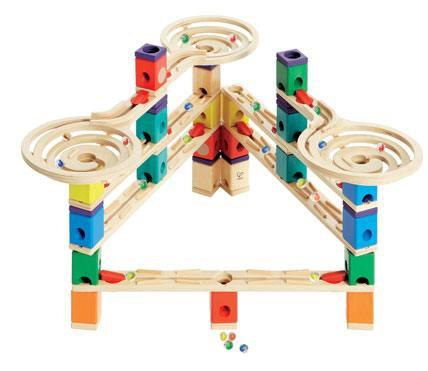 Quadrilla Wooden Marble Run Construction