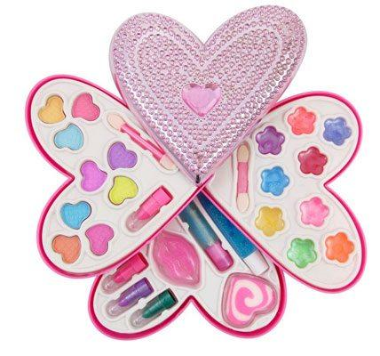 Petite Girls Heart Shaped Cosmetics Play Set
