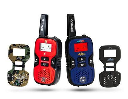 GoTalkie Interchangeable Theme Plates with Built-in Flashlight Radio Walkies