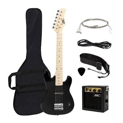 "New 30"" Kids Black Electric Guitar with Amp"