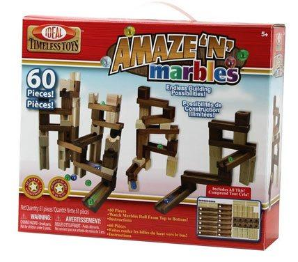 Amaze 'N' Marbles 60 Piece Classic Wood Construction Set