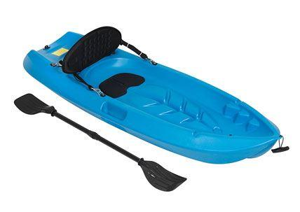 Sports 6 Feet Kids Kayak with Paddle and Backrest