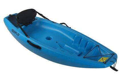 Kids Solid Color Sit on Top Kayaks with Backrest