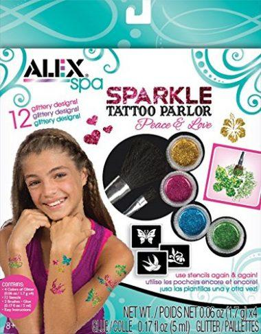 Spa Fun Sparkle Tattoo Parlor Peace and Love by ALEX Toys