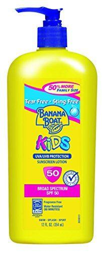 Banana Boat Sunscreen Kids Family Size Broad Spectrum Sun Care