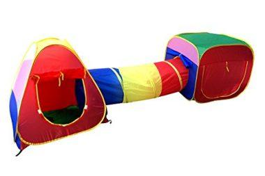 Cubby-Tube-Teepee 3pc Pop-up Play Tent by POCO DIVO