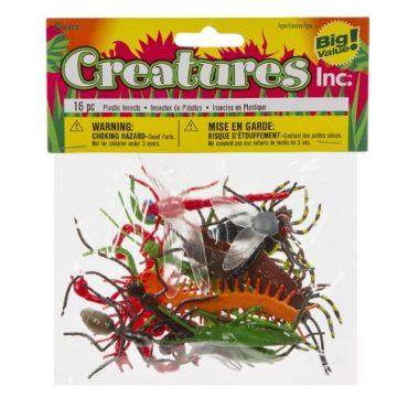 Darice 1029-03 16-Piece Plastic Insects