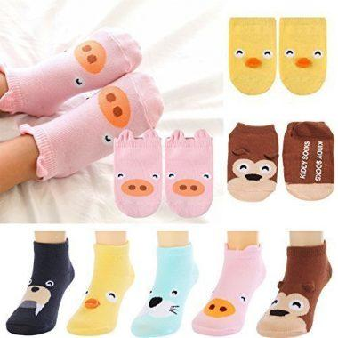 Fly-love 5-Pair Newborn and Infant Socks