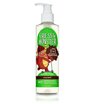Fresh Monster 2-in-1 Kids Shampoo & Conditioner, Coconut (8oz)