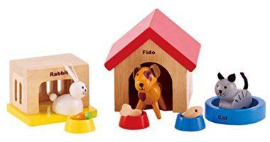 Family Pets Wooden Doll House Animals