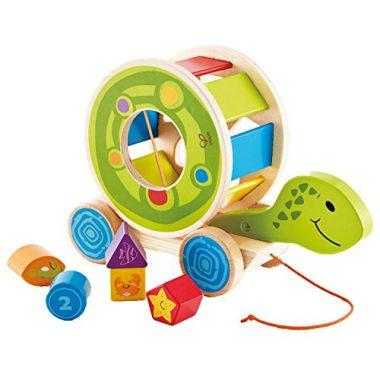 Shape Sorter Turtle – Wooden Pull Along Toy by Hape