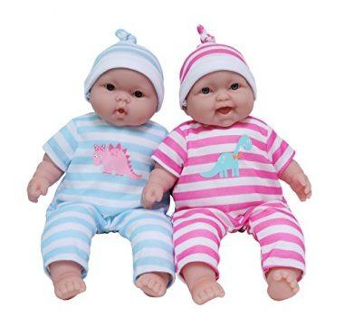 13-Inch Baby Soft Doll Soft Body Twins, Designed by Berenguer