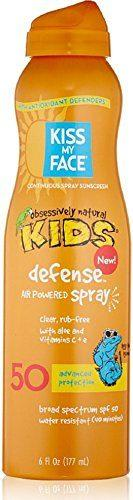Kiss My Face Kids Defense Continuous Spray Natural Sunscreen SPF 50 6 oz