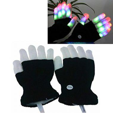 LED Colorful Flashing Finger Lighting Gloves by Luwint