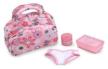 Melissa & Doug Mine to Love Doll Diaper Changing Set With Bag, Wipes, Accessories