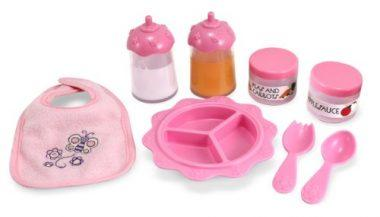 Melissa & Doug Mine to Love Time to Eat Doll Accessories Feeding Set