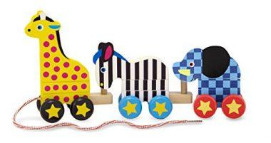Zoo Animals Wooden Pull Toy
