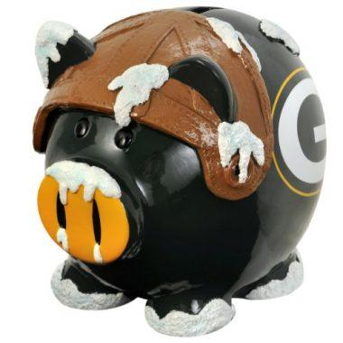 NFL Green Bay Packers Resin Large Thematic Piggy Bank
