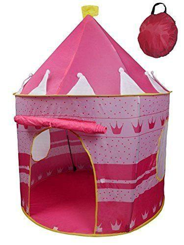 POCO DIVO Crown Princess Castle Girls Outdoor Tent Pink Indoor Play House