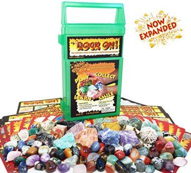 Rock On! Geology Game with Rock and Mineral Collection Kit by iLaughnLearn