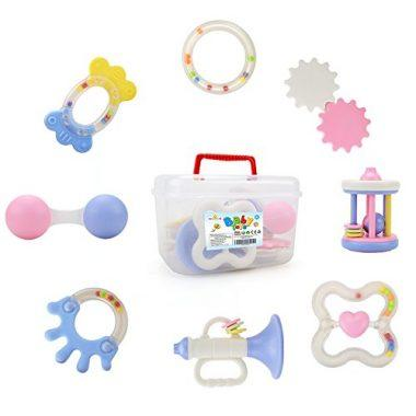 Baby Rattle Teether Toy Set – Wishtime SLE84820