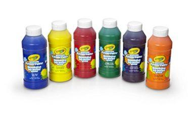 Crayola 6 Count Washable Kids Fingerpaints