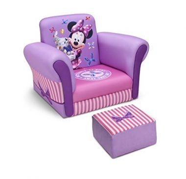 Disney Minnie Mouse Delta Children Upholstered Chair with Ottoman