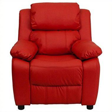 Contemporary Red Vinyl Recliner
