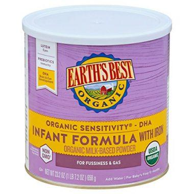 Earth's Best Organic Sensitivity Infant Formula with Iron