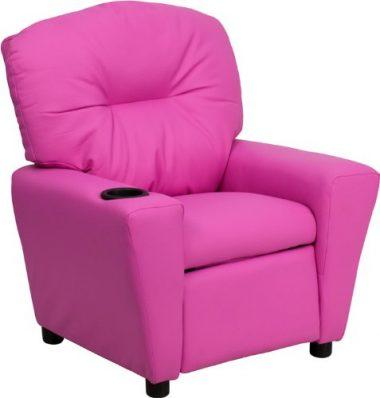 Flash Furniture BT-7950-KID-HOT-PINK-GG Contemporary Hot Pink Vinyl Kids Recliner with Cup Holder  sc 1 st  My Kid Needs That : childrens recliner chairs - islam-shia.org