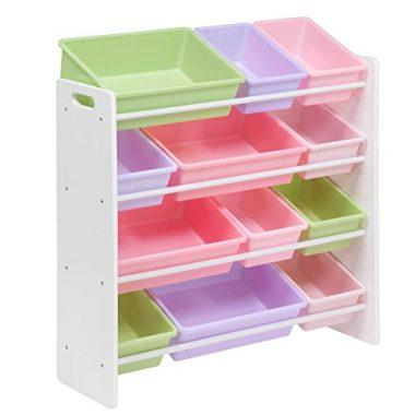 Honey-Can-Do SRT-01603 Kids Toy Organizer and Storage Bins