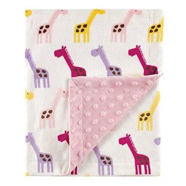 Printed Mink Blanket with Dotted Backing by Hudson Baby