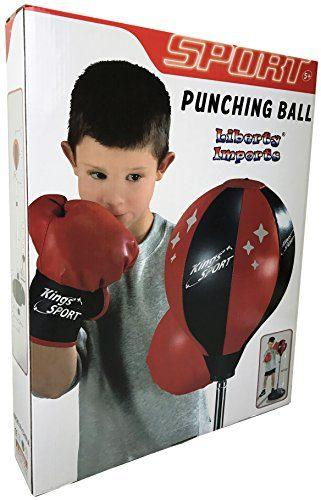 Liberty Imports Sport Boxing Punching Bag With Gloves