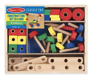 Melissa & Doug Wooden Construction Building Set
