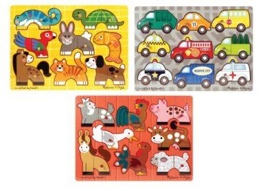 Mix 'n Match Wooden Peg Puzzles