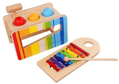Pidoko Kids Pound & Tap Bench with Slide Out Xylophone