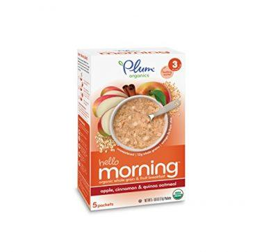 Plum Organics Baby Hello Morning, Apple, Cinnamon and Quinoa Oatmeal