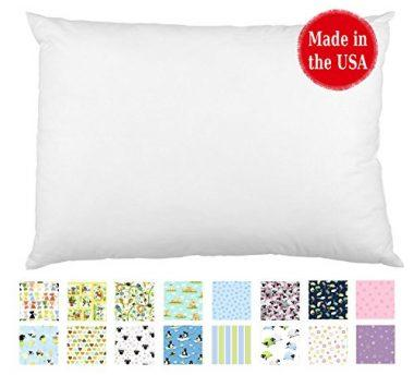 TODDLER PILLOW in White & Print