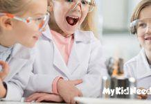 kids in science classroom