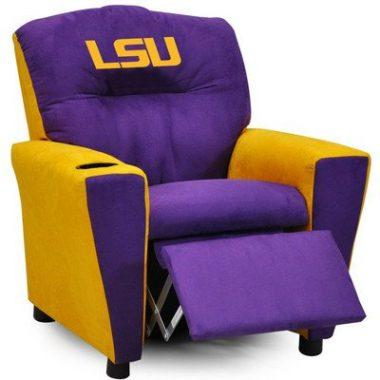 Kidz World All American Collegiate Kids Recliner with Cup Holder