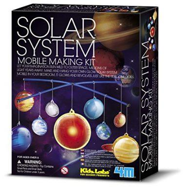 Glow-in-the-Dark Solar System Mobile Making Kit by 4M