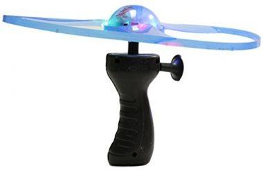 Light Up Flying Saucer with Hand Launcher by Fun Stuff