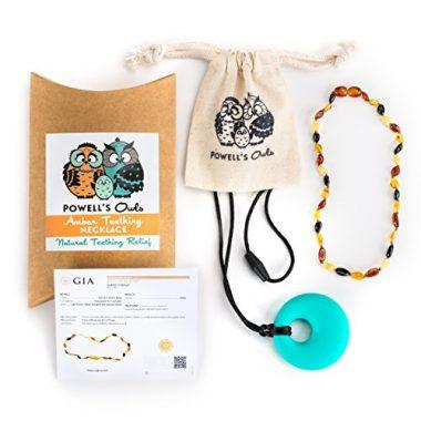 Baltic Amber Teething Necklace by Powell's Owls